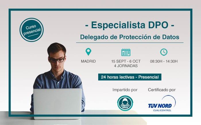 La próxima convocatoria del curso ES-CIBER para Delegados de Protección de Datos comenzará en septiembre