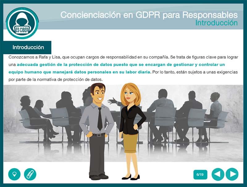 ES-CIBER lanza una píldora formativa sobre Concienciación en GDPR específica para responsables